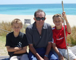 Mitchell and Braedon Jury and their Grandpa