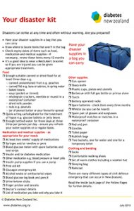Diabetes Disaster Kit