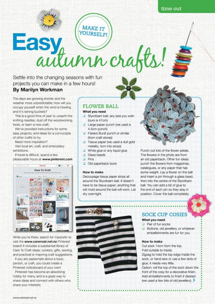 Quick And Easy Crafts Carersnz